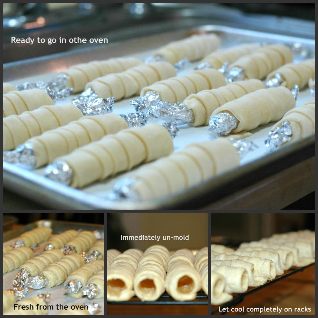 Clothespin cookies mini cream horns recipe